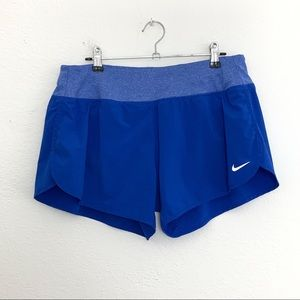 Nike Dri-Fit Blue Running Shorts with Liner